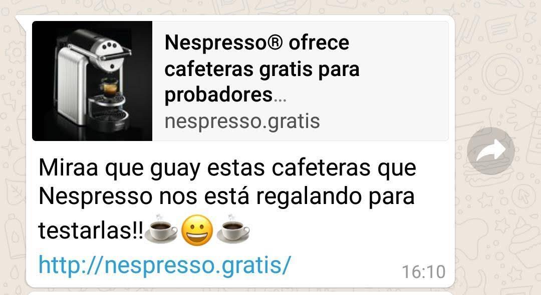 Campaña fraudulenta cafetera