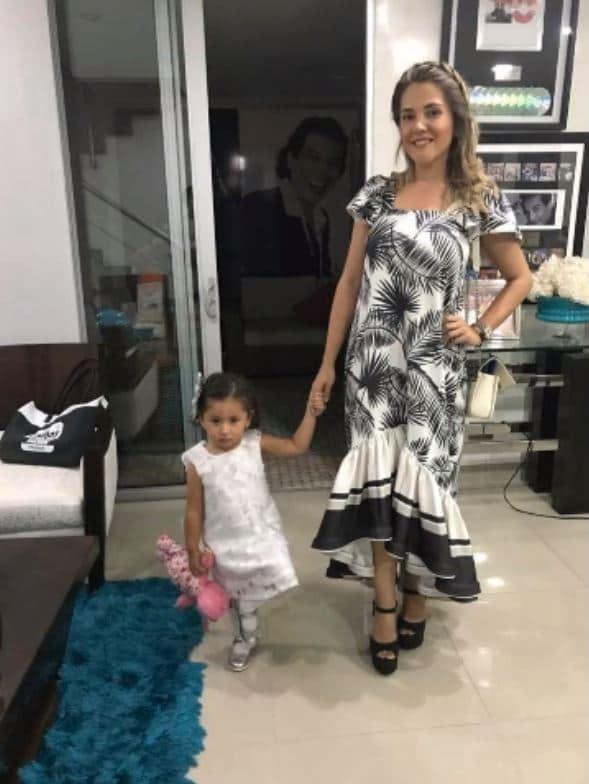 Dayana Jaimes y su hija Paula Elena Díaz
