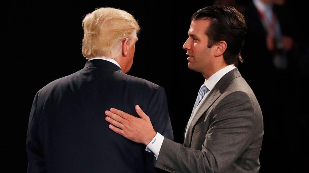Donald Trump Jr. y su padre