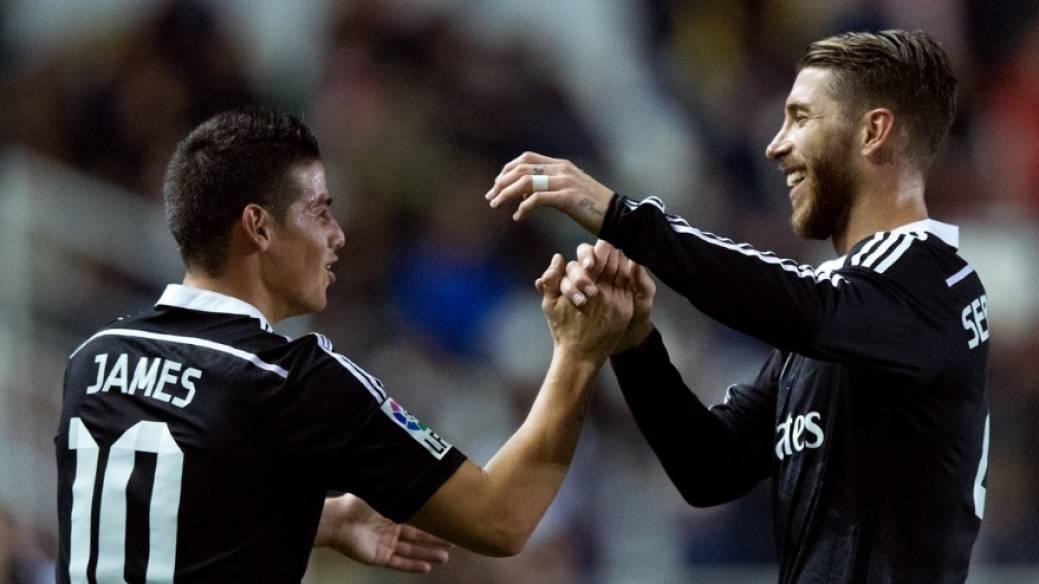 James Rodríguez y Sergio Ramos