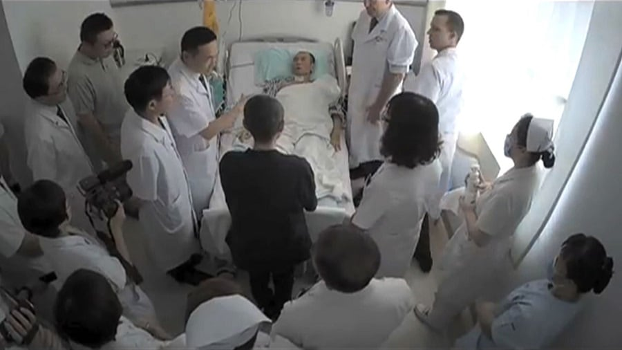 Liu Xiaobo, en el hospital