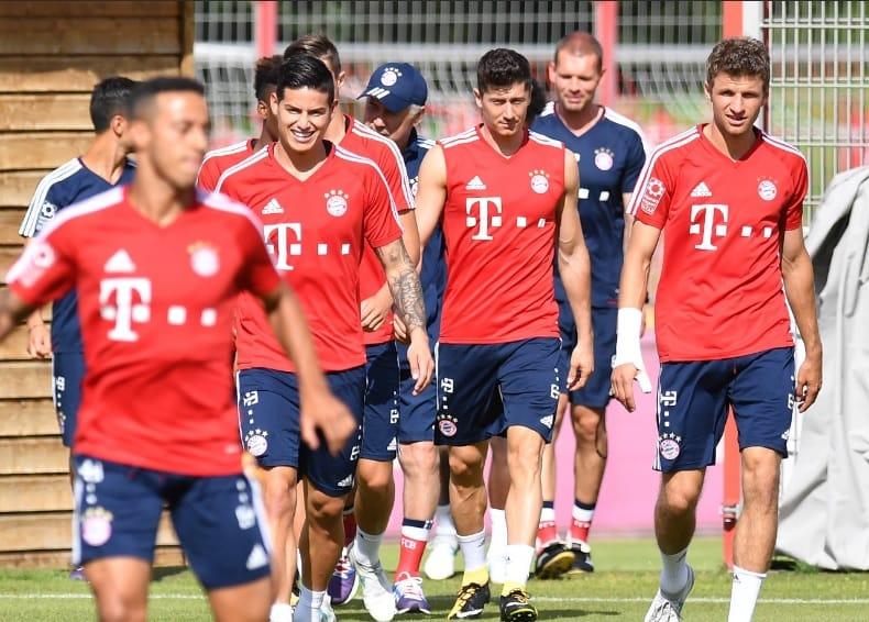 Entreno de James con el Bayern