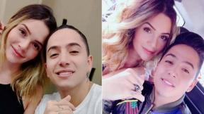 La actriz Lina Tejeiro y su novio, el cantante Andy Rivera.