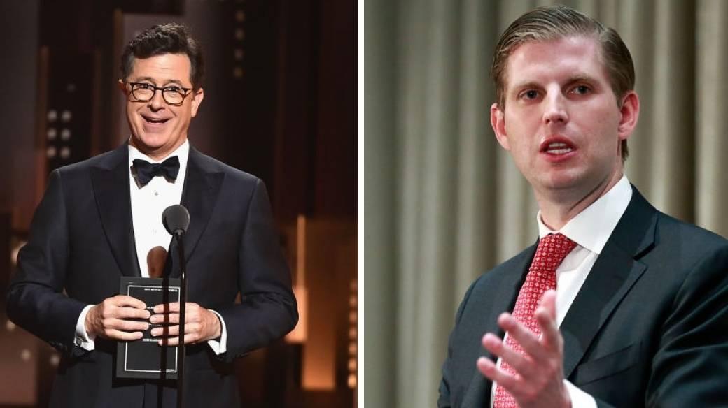 Stephen Colbert y Eric Trump