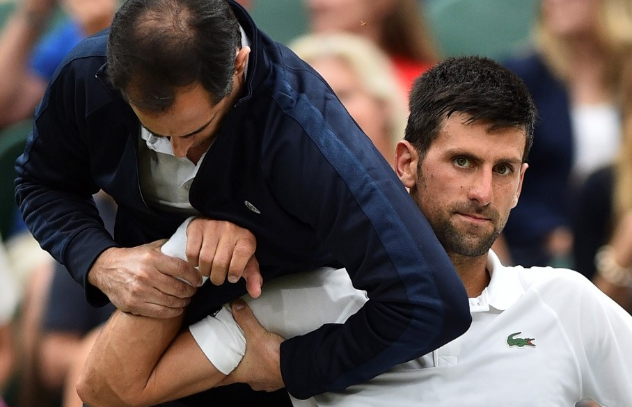 Lesión de Novak Djokovic
