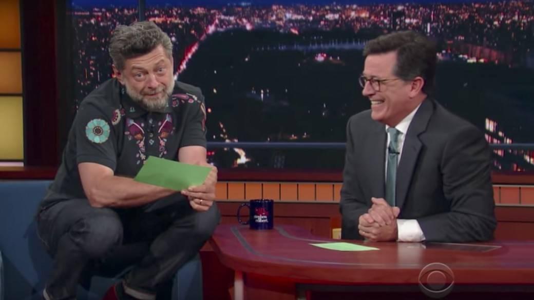 Andy Serkis y Stephen Colbert. Pulzo.com