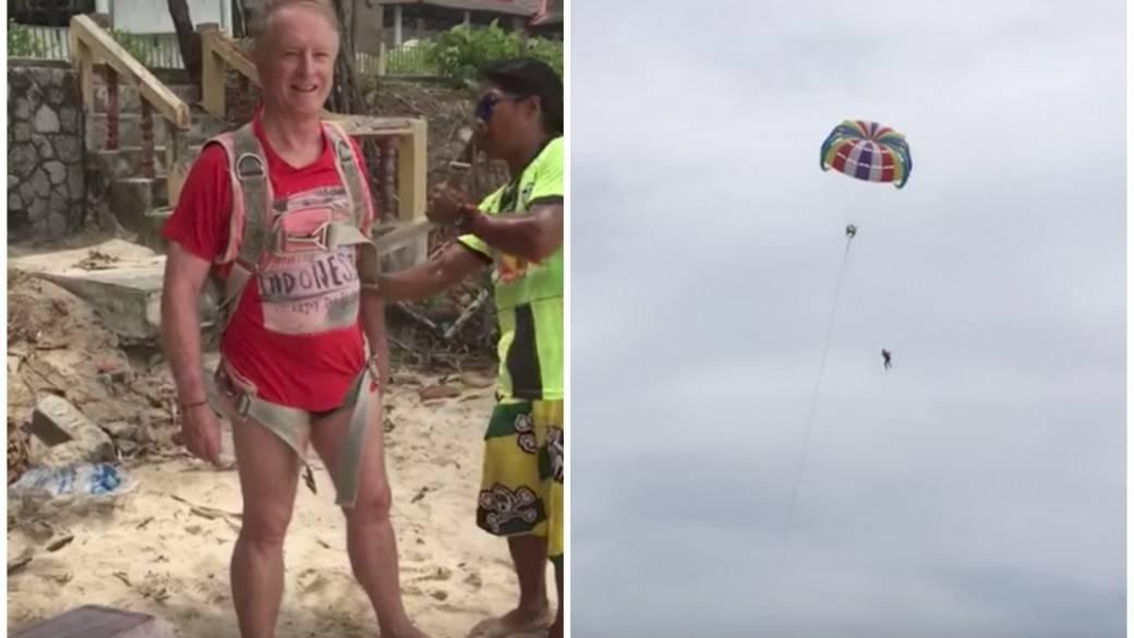Hombre que murió haciendo 'parasailing'. Pulzo.com