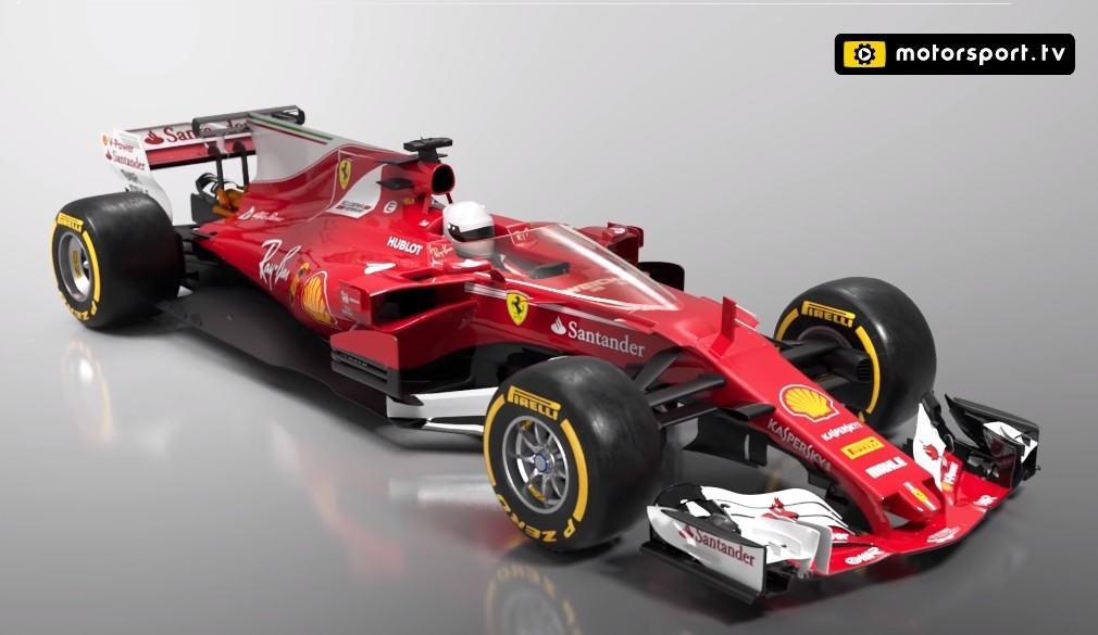 Escudo en el carro de Ferrari