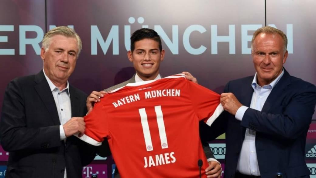 James Rodríguez en el Bayern de Múnich.