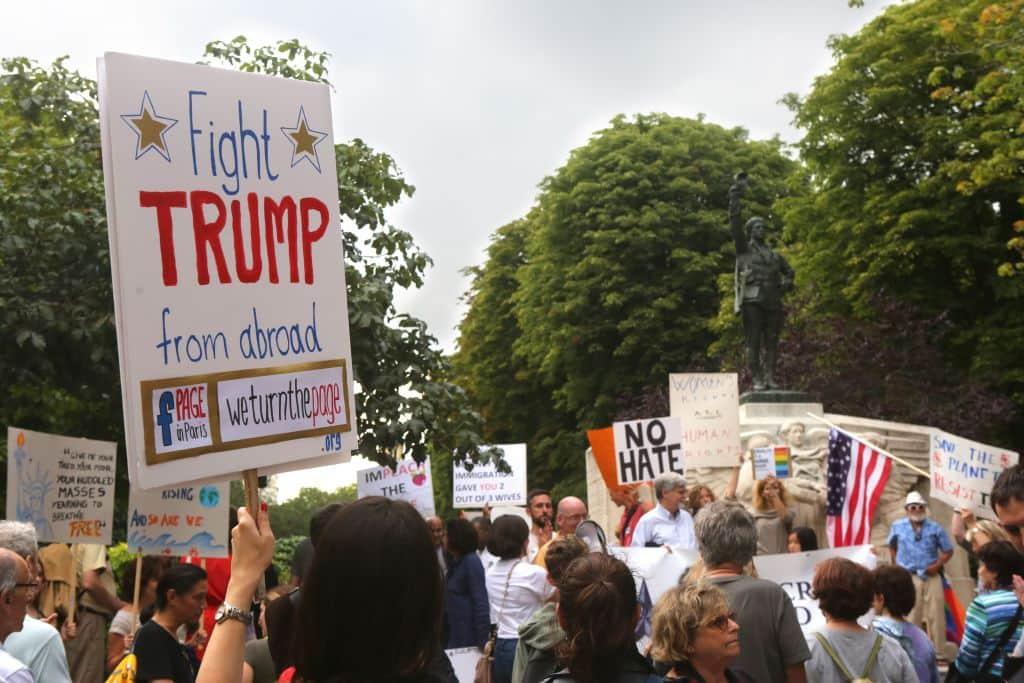 Protestas en París contra Trump