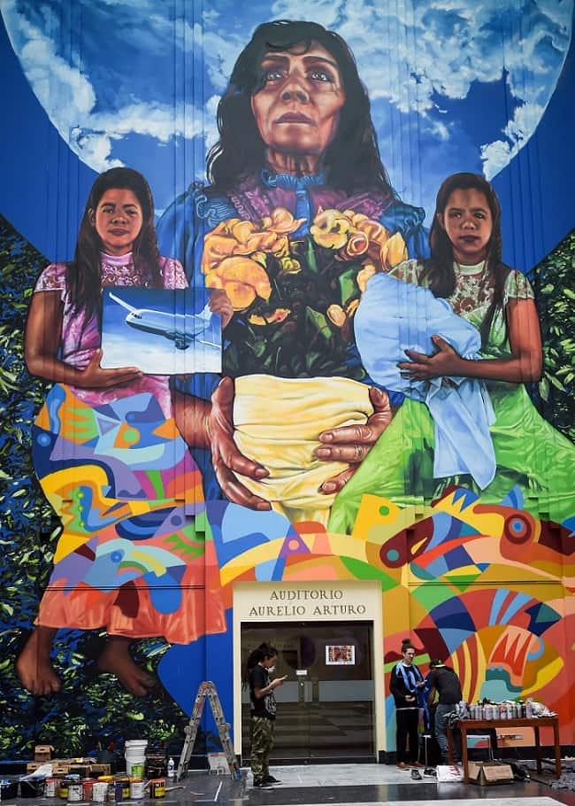 Mural en Biblioteca Nacional
