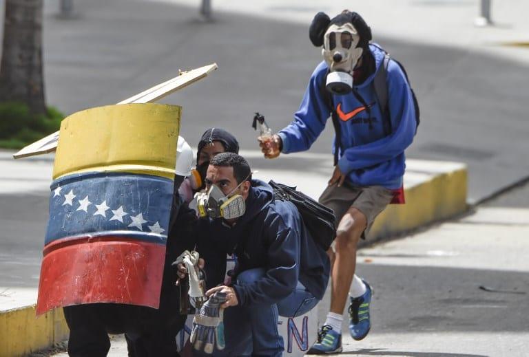 Manifestación contra Nicolás Maduro