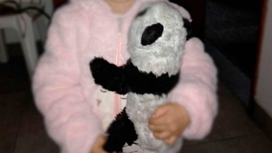 Este es el oso panda de peluche que perdió la niña