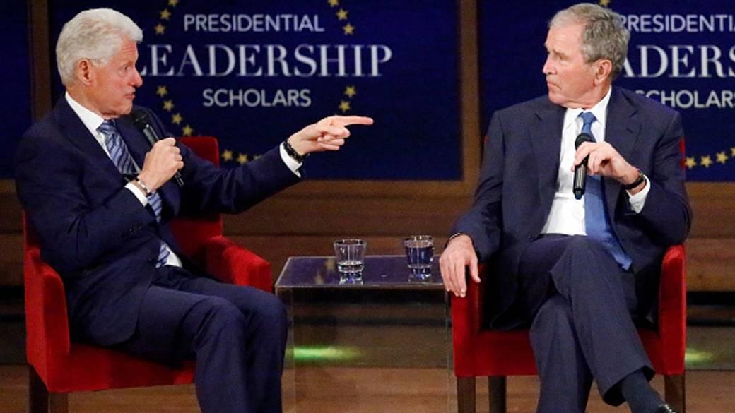 Clinton y Bush