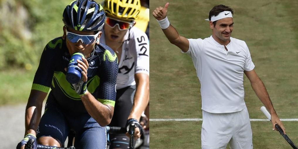 Nairo y Federer
