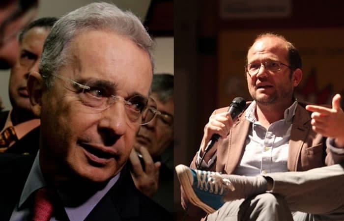 Álvaro Uribe y Daniel Samper Ospina
