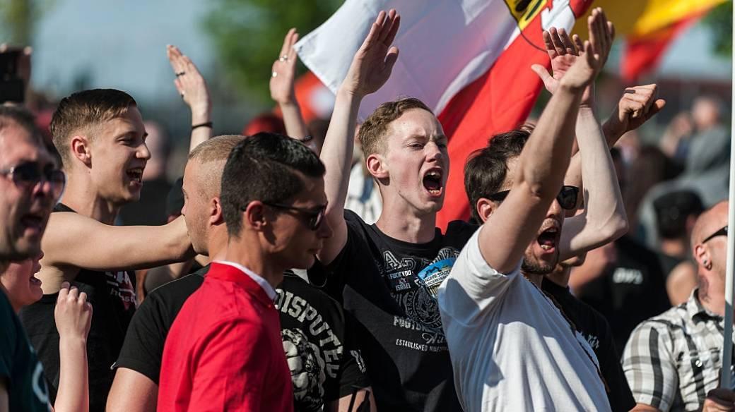 Manifestación Neonazi en Berlín