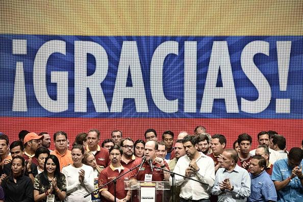 Julio Borges y otros líderes de la oposición