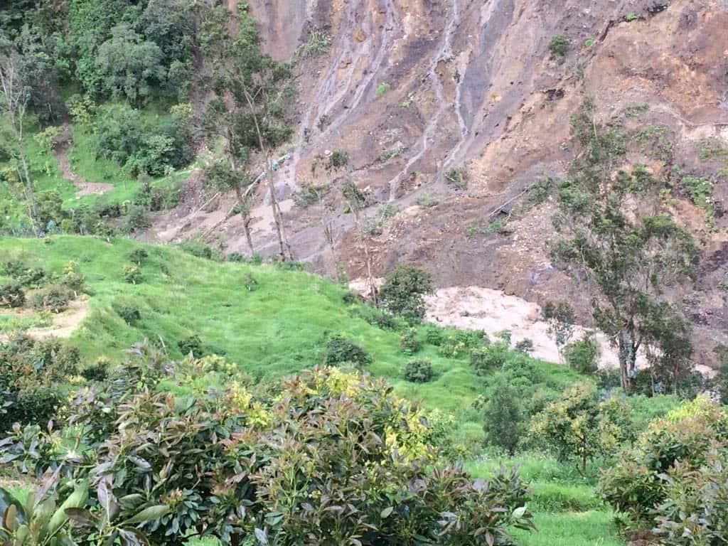 Deslizamiento de la montaña