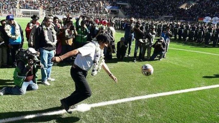 Evo Morales en Estadio