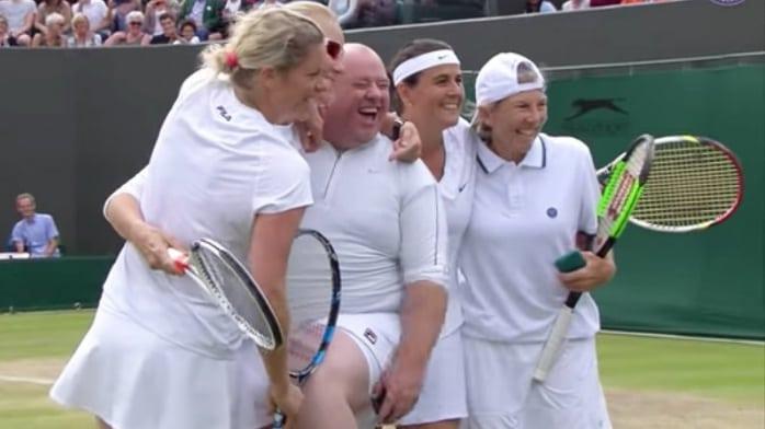 Aficionado en Wimbledon