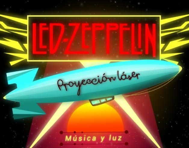 Led Zeppelin, proyección laser