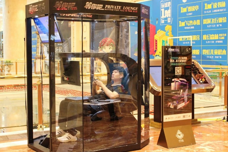 Cabina de espera en China