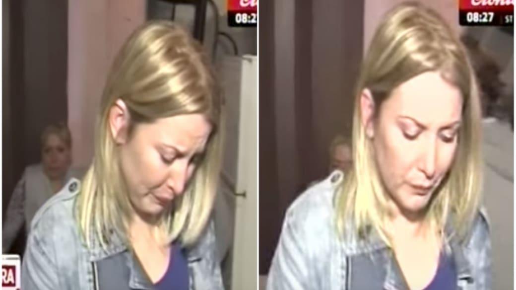 Periodista llora en vivo.