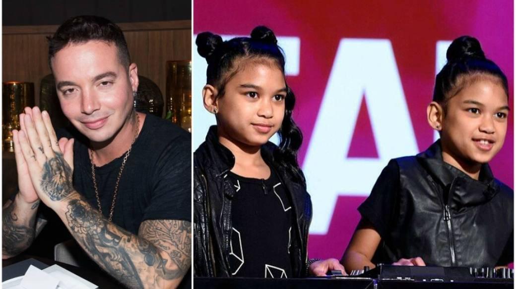 J Balvin y gemelas DJs.