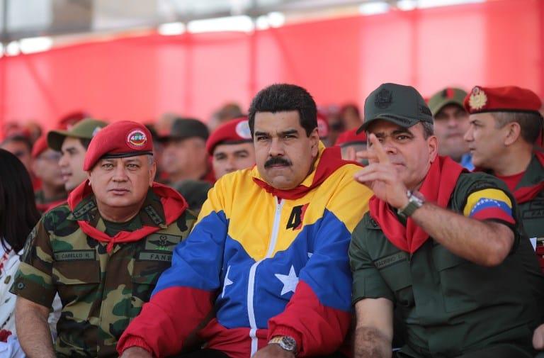 Diosdado Cabello, Nicolás Maduro y Vladimir Padrino López