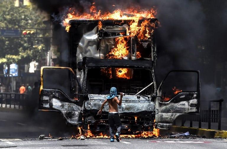 Protesta en Caracas, Venezuela. Pulzo.com