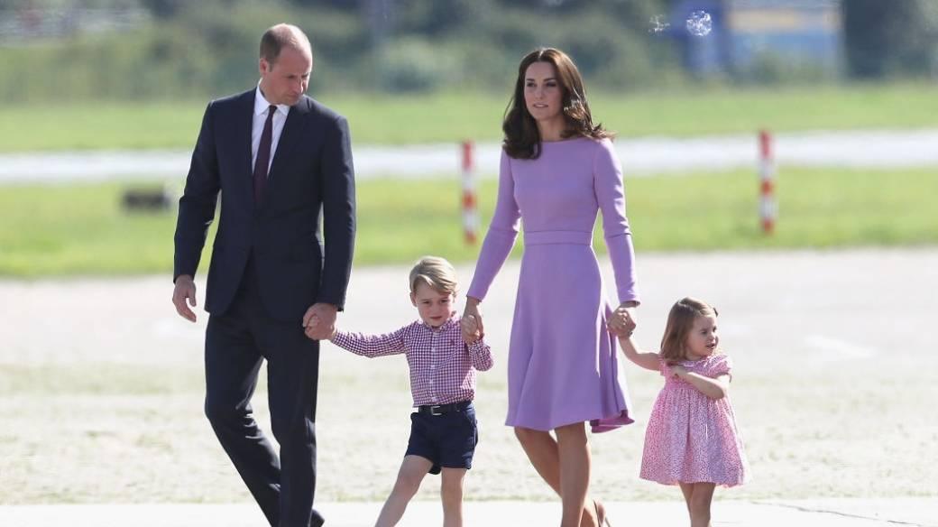 Príncipe William, Duque de Cambridge, Kate, Duquesa de Cambridge, Príncipe George de Cambridge y Princesa Charlotte de Cambridge