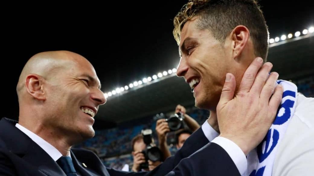 Zinedine Zidane y Cristiano Ronaldo