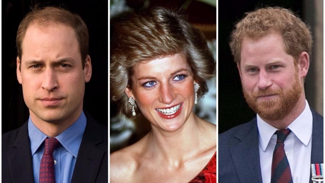 Príncipe William / Princesa Diana de Gales / Príncipe Harry