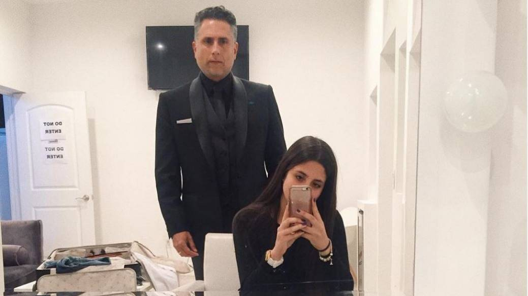 Marlon Moreno, actor, y su hija Gabriela Moreno, modelo.