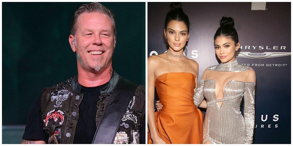 Vocalista de Metallica habla contra camisetas de hermanas Jenner