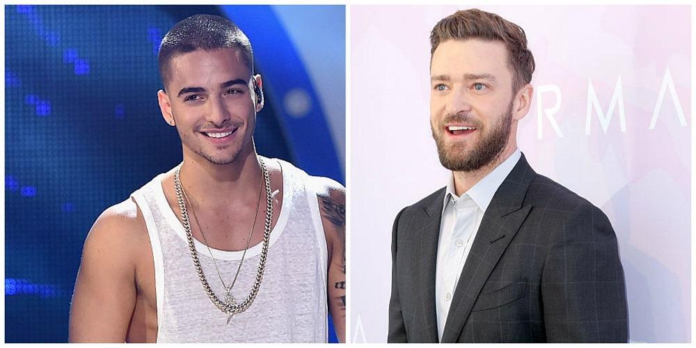 Foto de Maluma y Justin Timberlake