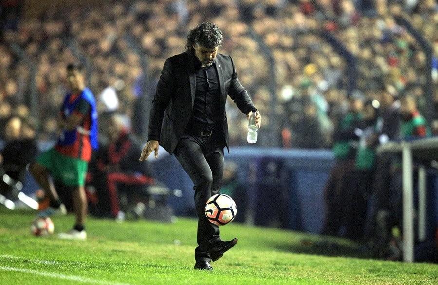 Leonel Álvarez durante el partido de Cerro Porteño