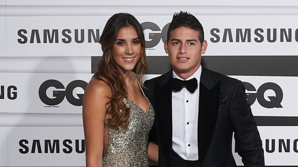 James Rodriguez y Daniela Ospina