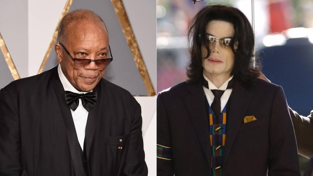 Quincy Jones, productor, y Michael Jackson, cantante (Q.E.P.D).