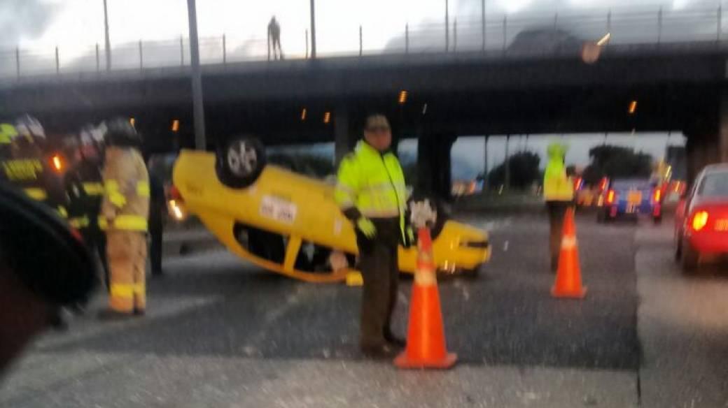 Accidente Autopista Norte con calle 170