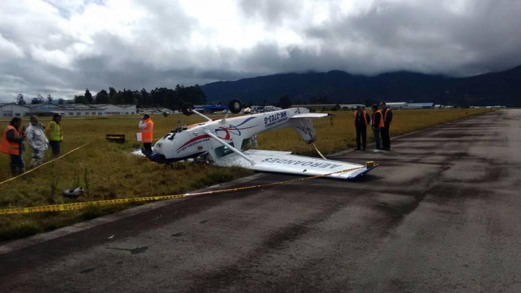 Aeronave de instrucción accidentada