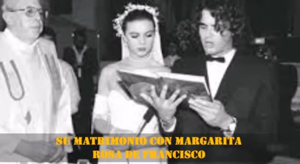 La presentadora Margarita Rosa de Francisco y el cantante Carlos Vives, el día de su boda.