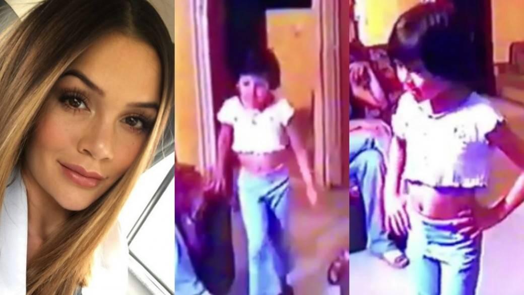 Video de Lina Tejeiro desfilando cuando era niña