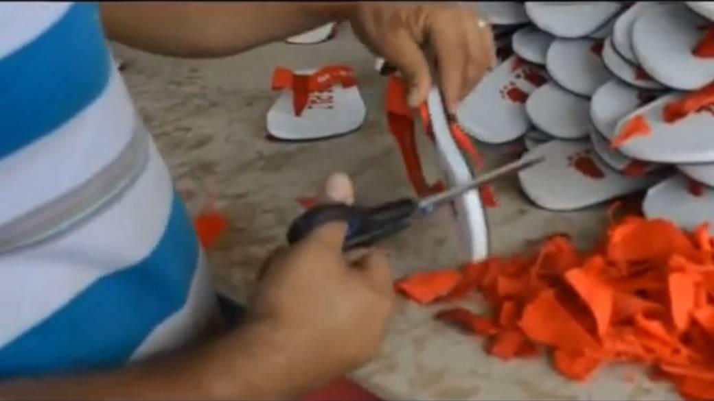 Fábrica de sandalias