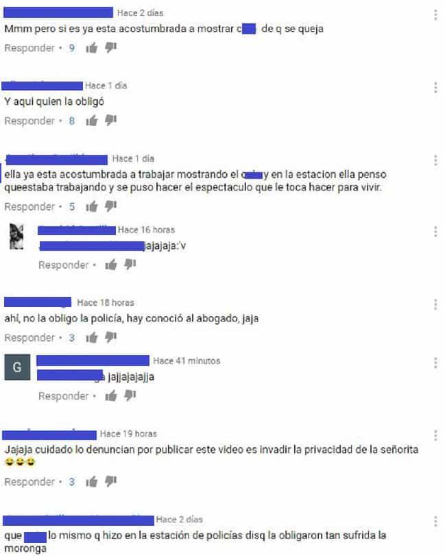 Comentarios en redes sociales
