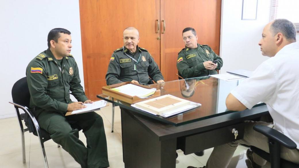Policías en Montería