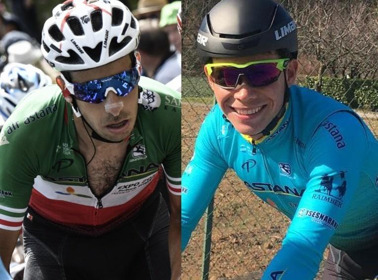 Fabio Aru y Miguel Ángel Lopez