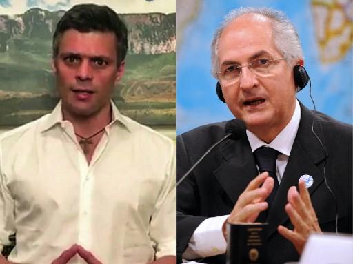 Leopoldo Lopéz y Antonio Ledezma