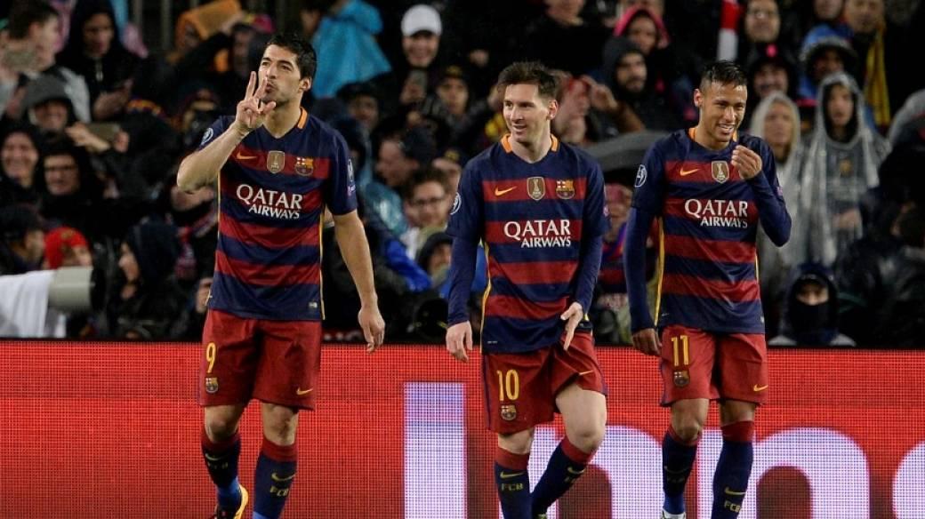 Luis Suárez, Lionel Messi y Neymar